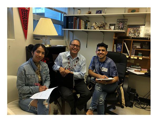 Perla Salazar and Jesus Cortez smiling